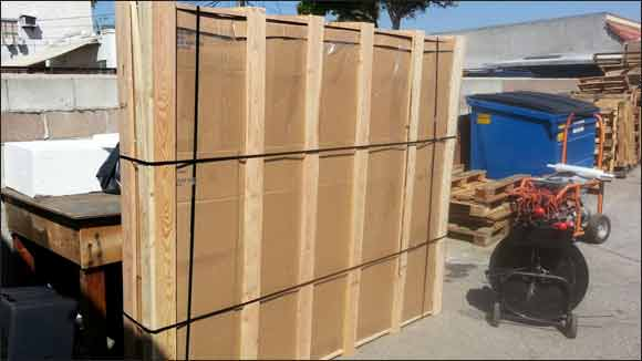 4000 mattressmoisture proofed and crated prior to shipping overseas - Shipping A Mattress