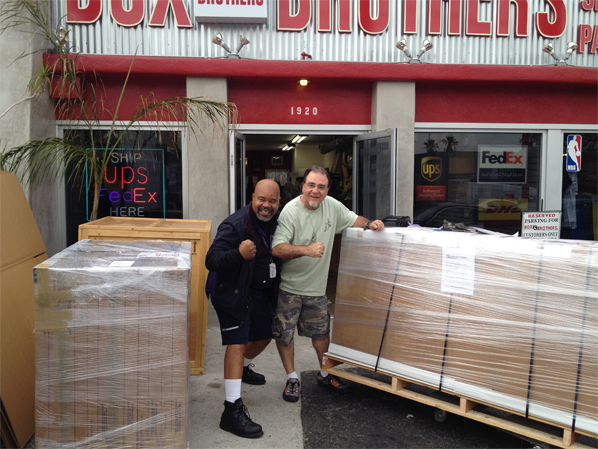 Box Brothers Los Angeles and Fedex - The A Team for Art Shipping.