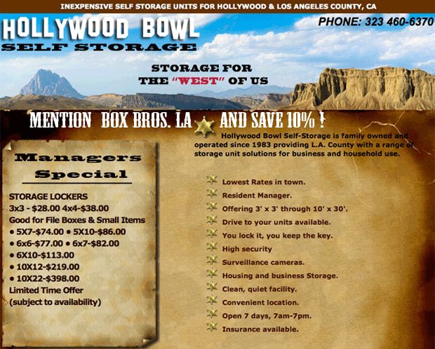 our partner Hollywood Bowl Self Storage