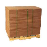pallet of corrugated cardboard sheets