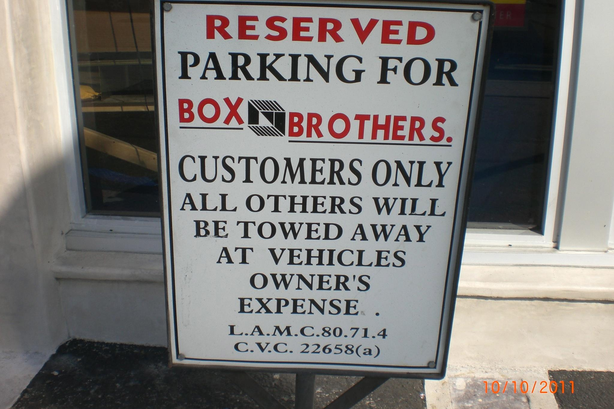 "<a href=""/image/image-galleries/box-brothers-la/reserved-parking-onlyfor-you"">Reserved Parking Only(for YOU)</a>"