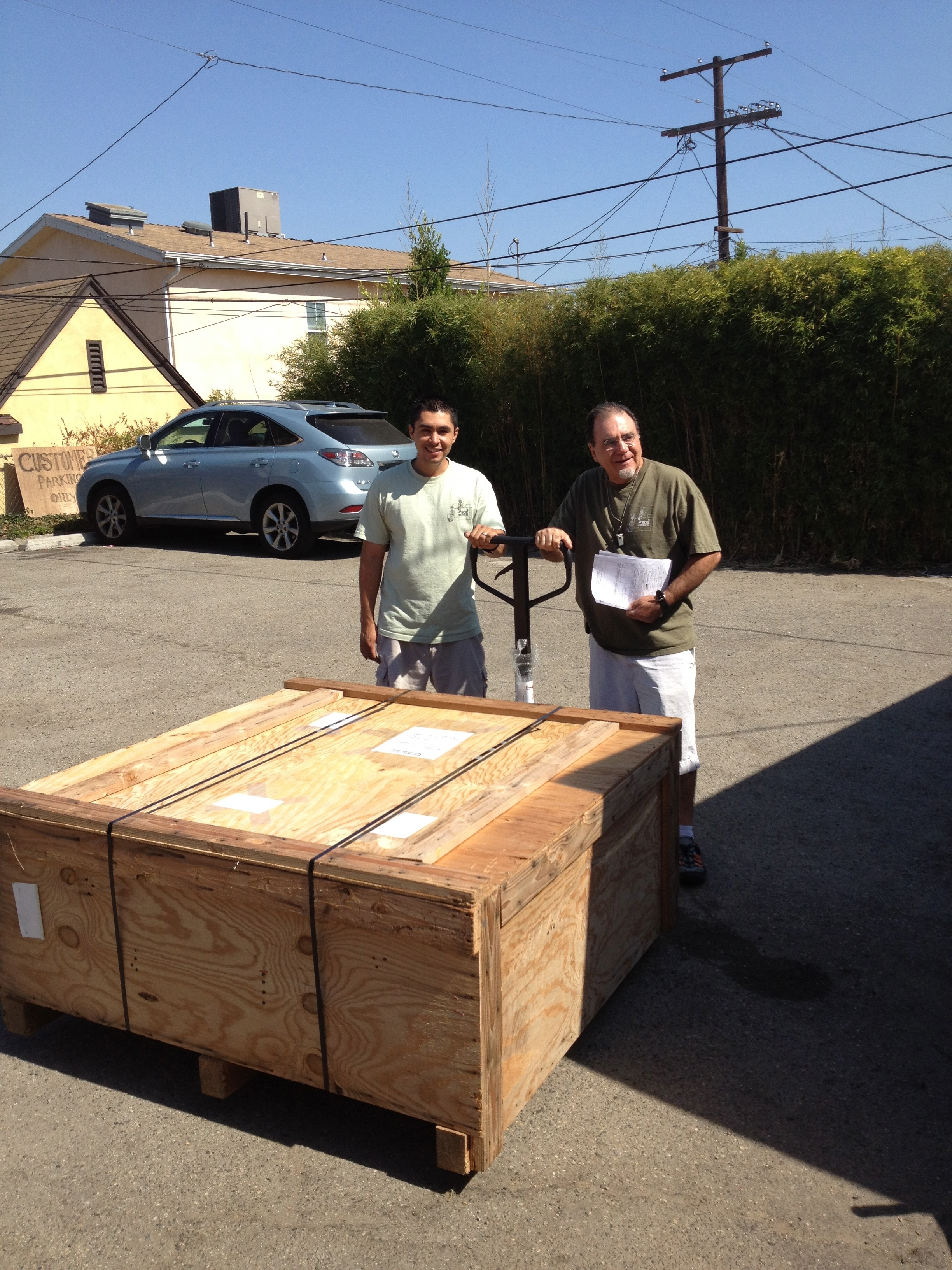 $10,000 marble coffee table packed and ready to go