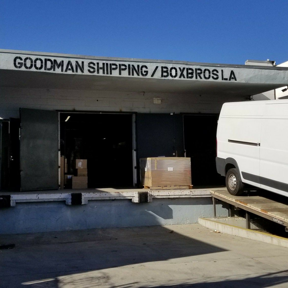 Box Brothers LA/Goodman Packing & Shipping LA Shipping Center/Warehouse, packing, crating, moving, staging and logistics facility buildout