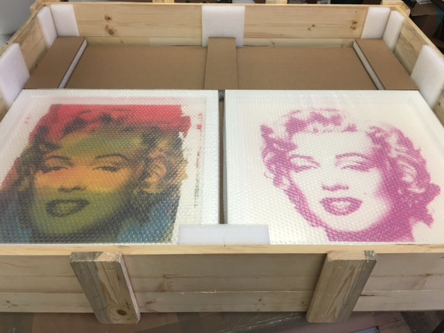 Warhol's Marilyn Monroes are iconic  examples  of his work  and packed with care
