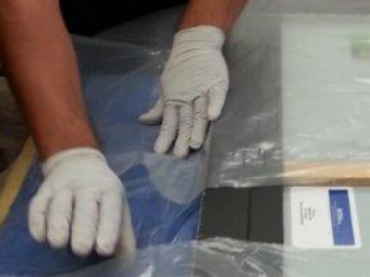 gloves and packing materials